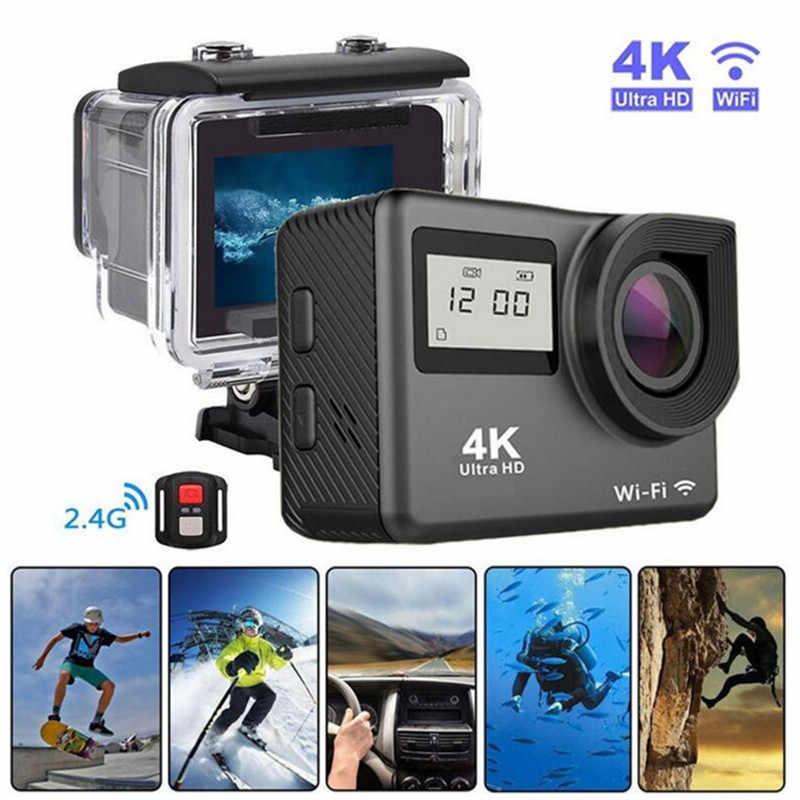 """Action กล้อง 4 K WiFi 2.0 """"หมวกกันน็อกกันน้ำใต้น้ำวิดีโอบันทึกกล้อง Sport Cam ด้วยรีโมทคอนโทรลกล้องวิดีโอ"""