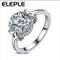 White gold plated rings CZ diamond AAA Vintage Jewelry for Women cubic zirconia romantic Engagement wholesale ring LSR253