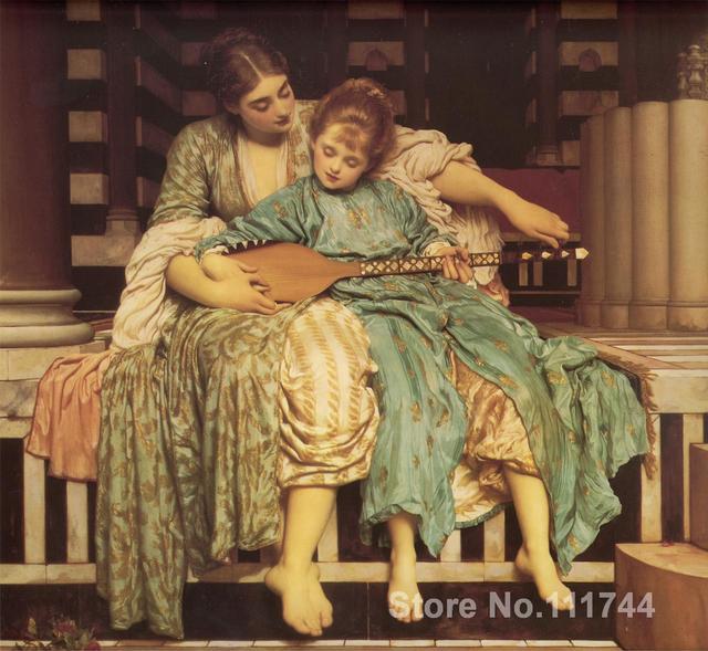 Pinturas para dormitorio música lección Frederic Leighton ...
