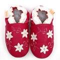 Кожа детская обувь малыша детская обувь девушка девочку первые ходоки цветок младенческой мокасины мальчиков новорожденный тапочки