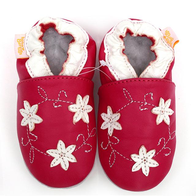 Cuero bebé zapatos de niño los niños de la muchacha del bebé primeros caminante flor infantil mocasines niños recién nacido bebé suave