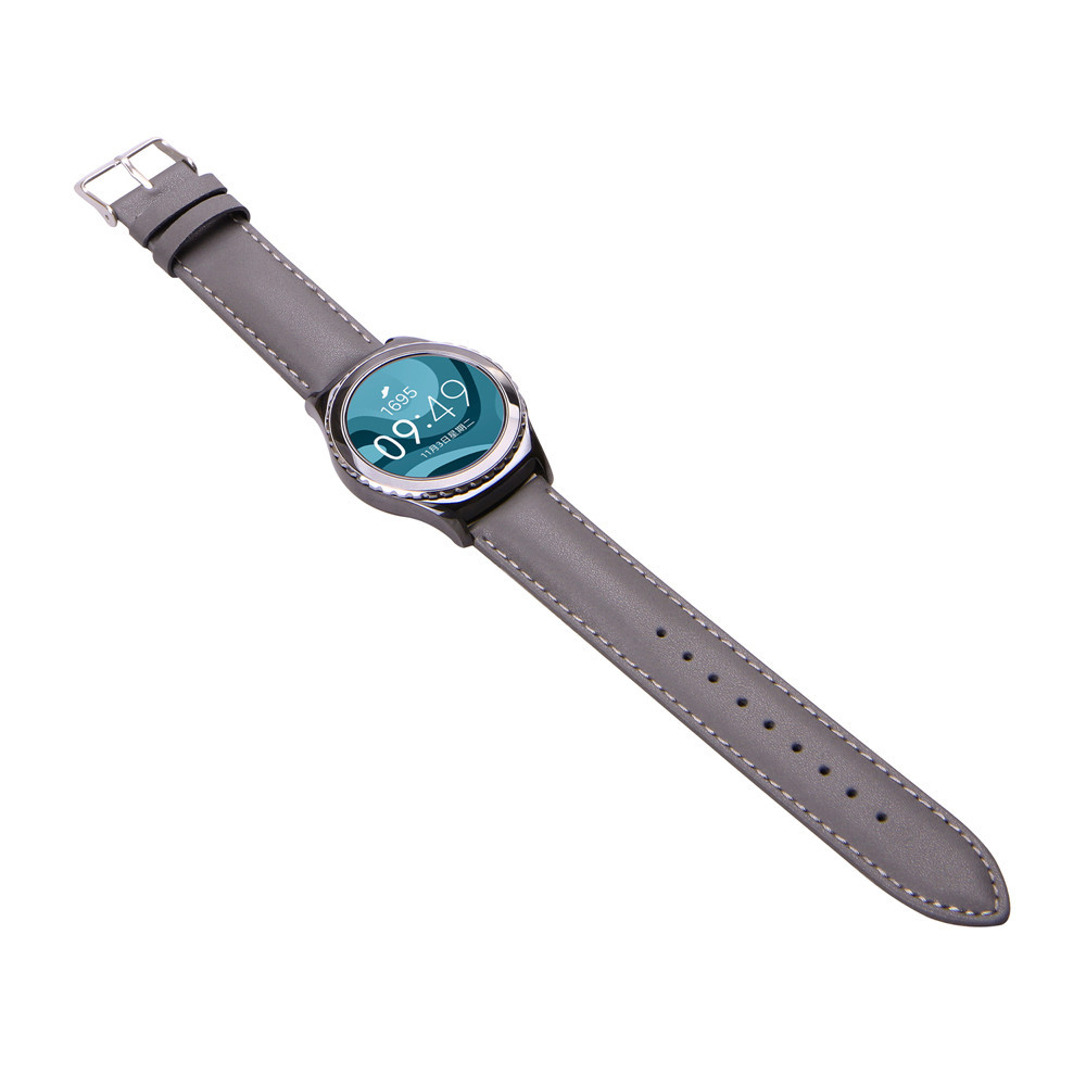 Pulseira Genuine Leather Watch Band Strap For Samsung Galaxy Gear S2 Classic R732 17May19 superior new pu leather loop type watch band strap for samsung gear s2 classic sm r732 mar22