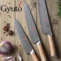 Японии 67 слой VG10 Дамаск нож шеф повар ножи Тесак нарезки Utility Овощной Кухня дать черный орех деревянные ножны