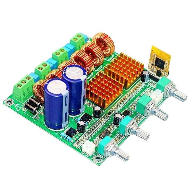Bluetooth 4.0 Numérique 2.1 Classe D HIFI Amplificateur de Puissance Conseil 3CH Super Bass Ampl