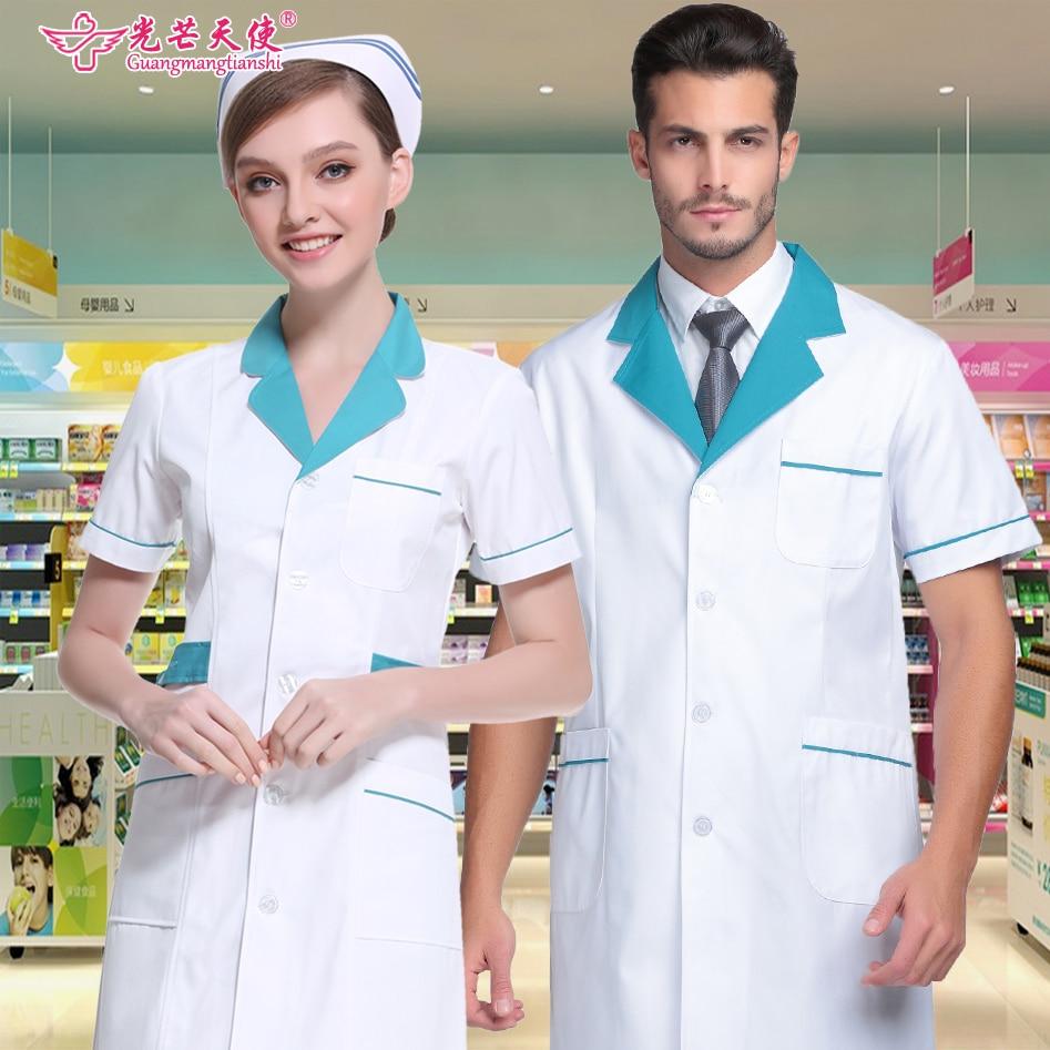 2019 Medical Clothing Hospital Anti-wrinkle And Washable Nurse Clothing Long Sleeve White Men's Doctor Uniform