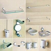 Bathroom Accessories Hardware Liquid Soap Dispenser Wall Mounted Towel Bars Robe Hook Toilet Brush Paper Dish