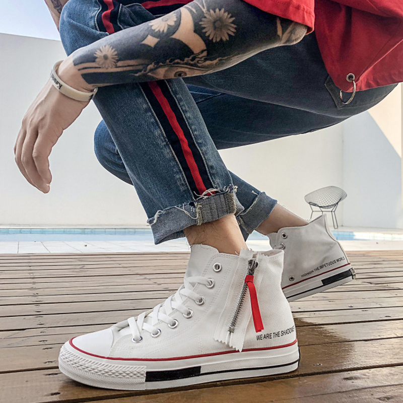 49e60d8556 Worldwide delivery high top shoes with zip in NaBaRa Online