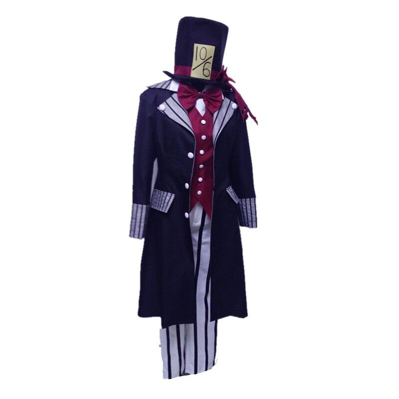 Black Butler Kuroshitsuji Undertaker Cosplay Costume Uniform Any Size boodun bd b04 bicycle bike top tube double bag black