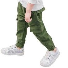 2017 Automne Enfants Garçons Pantalon Pantalon Vêtements Casual Coton Taille Élastique Crayon Pantalon Pour Garçons Vêtements Pour Enfants