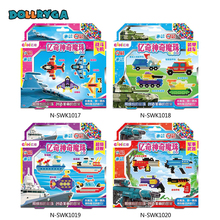 DIY Kids Craft MagicWater Bead Activite Creative Pour Enfant Hama Beads Mini Air Fighter Super Warship Beads Brithday Gifts
