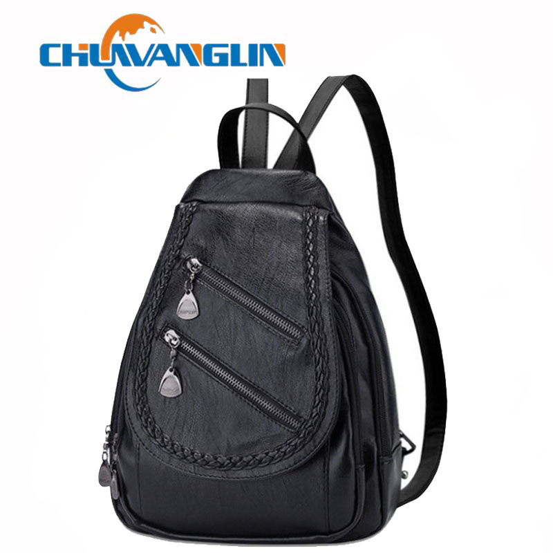 Women Leather Backpack Women 2019 Students School Bag Large Backpacks Multifunction Travel Bags Mochila Ladies Bagpack B9385Women Leather Backpack Women 2019 Students School Bag Large Backpacks Multifunction Travel Bags Mochila Ladies Bagpack B9385