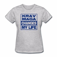 Krav Maga Changes My Life Harajuku Women Clothes T Shirt Summer Fashion Tumblr Cotton Tshirts Women