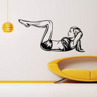 Sexy Gril Gym Vinyl Wall Decal Sport Activity Woman Girl Crossfit Fitness Mural Wall Sticker Fitness Centre Room Home Decoration
