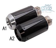 universal Motorcycle exhaust pipe and carbon fiber CNC for  exhaust z800 zx10r r6 r3 r25 Muffler Racing  Exhaust With Sticker