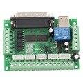 Atualizado 5 Eixos Adaptador de Interface CNC Breakout Board Para Stepper Motor Driver Mach3 + Cabo USB venda quente