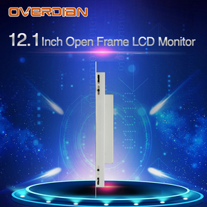 """Image 3 - 12 """"인치 디스플레이 1400*1050 산업용 LCD 모니터 VGA/DVI/USB 인터페이스 고해상도 금속 쉘 쿨 저항 터치 스크린"""