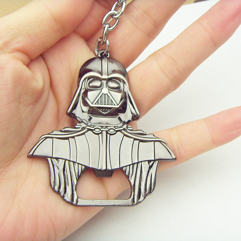 New Hot star wars  Darth Vader keychain Bar Beer Bottle Opener Metal Alloy style model figure Kitchen Tools for souvenirs
