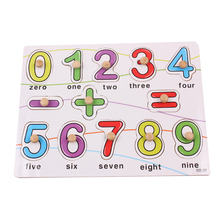 Exempt postage, wooden puzzles, childrens toys, educational digital cognitive finger board, Numbers game