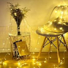 10 50 80 светодиодный светильник s батарея светодиодный светильник светодиодный Сказочный светильник s прозрачный для вечерние, рождественские, свадебные, для сада