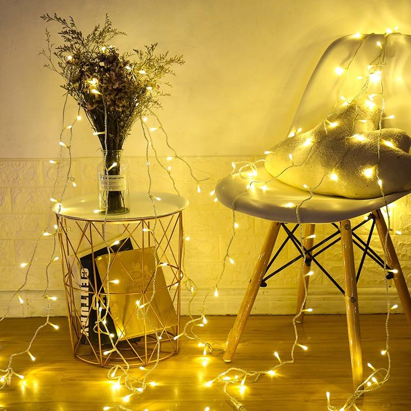 10 50 80 LED String Lights Battery LED String Light LED Fairy Lights Transparent For Party Christmas Wedding Garden