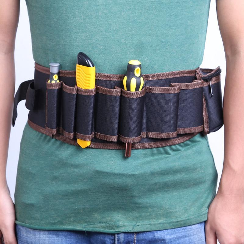 Electricians Adjustable Waist Pocket Belt Tool Bag Pouch Hammers Pliers Screwdriver Holder Storage Hand Repair Tool Organizer Attractive Designs; Tool Organizers