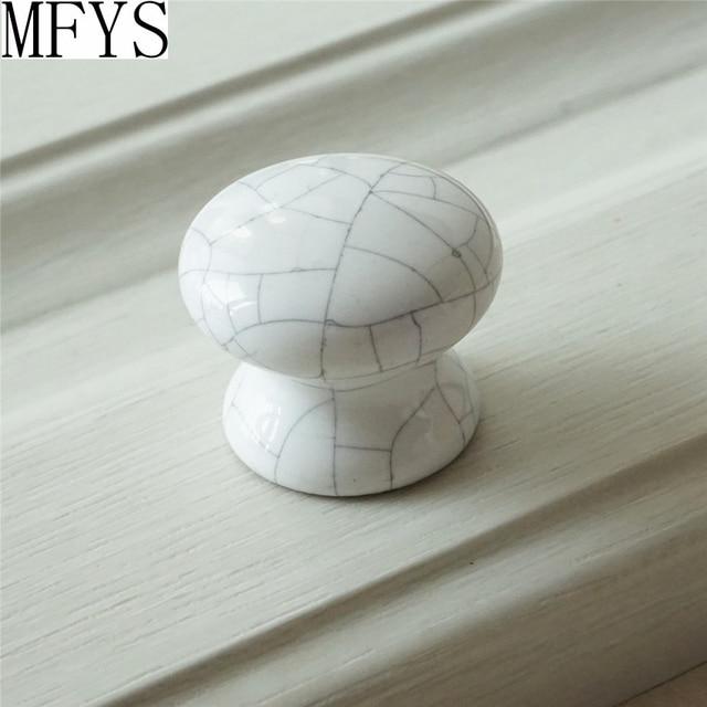 Pomelli in ceramica Bianco Crackle/Shabby Chic Dresser Cassetto ...