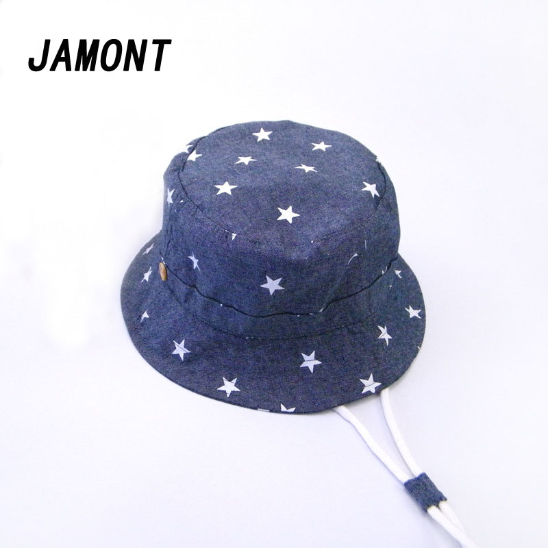 Fashion Five-pointed Star Bucket Hats New Adjustable Fisherman Hat Boys Girls Cotton Street Hip Hop Panama Bob Cap