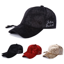 NEW Baseball Caps with Letter Embroidery Strap Simple Suede Back Cap Hat for Men's Women's Hats Winter Warm Baseball Cap