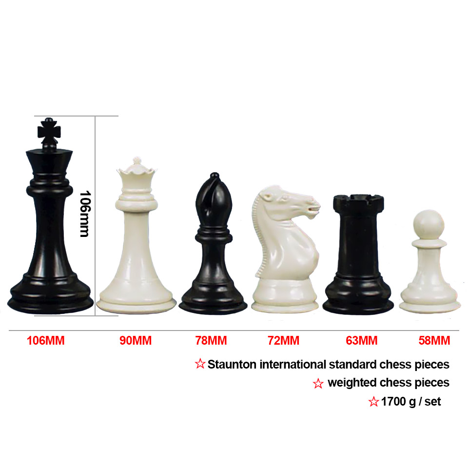 King Height 106mm Staunton International Standard Chess Pieces Weighted Chess Set for Kids Adult Match Club Chess Game LA66 james eade chess for dummies