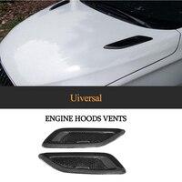 Universal Carbon Fiber Hood Bonnet Air Vents for BMW F80 F82 F83 E46 E90 For Audi Benz Accessories