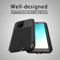 For Huawei P30 Pro Metal Case LOVE MEI Waterproof Dirtproof Shockproof Cover for Huawei P30 Pro Case Aluminum Free Gorilla Glass