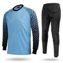 Европейский костюм вратаря футболка с длинными рукавами + футбольные