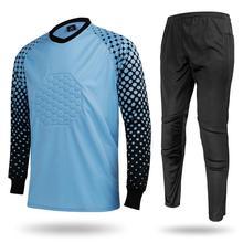 Tracksuit Soccer-Pants Eu-Goalkeeper-Suit Sportswear Sets Football Training Long-Sleeved