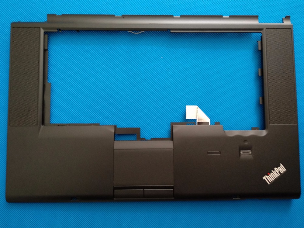 New Oirginal for Lenovo Thinkpad T520 T520I W520 Palmrest Cover Keyboard Bezel with FP NO CS 04W1369 04X3737 gzeele new for lenovo thinkpad s1 yoga keyboard bezel palmrest cover with touchpad and connecting cable 00hm067 00hm068 black c
