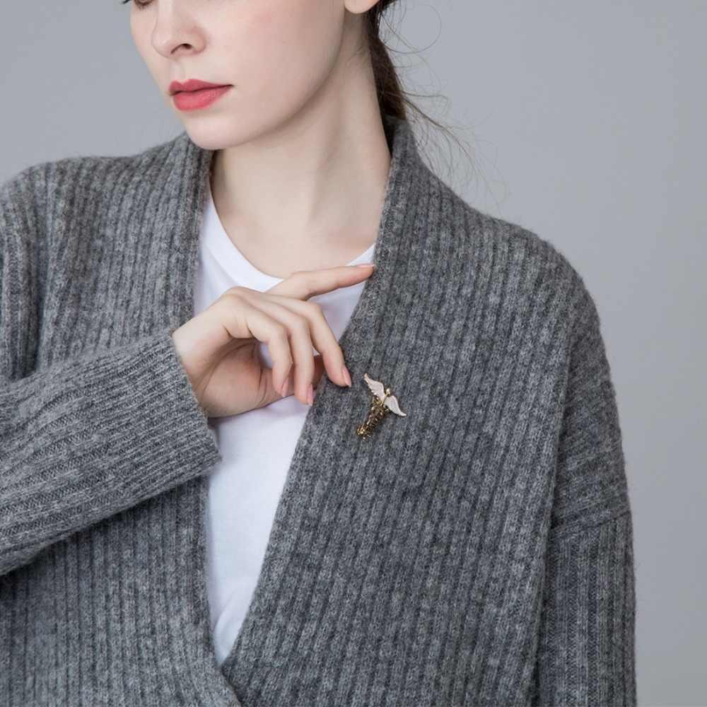 Новый уникальный дизайн крыло с броши в виде змеи для женщин детский подарок эмалевый сплав рюкзак украшение одежды костюм животных нагрудные булавки