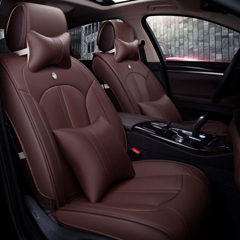5D Styling Sport Car Seat Cover Cushion For Hyundai i30 ix35 ix25 Elantra Santa Fe Sonata Tucson High-fiber Leather Car pad