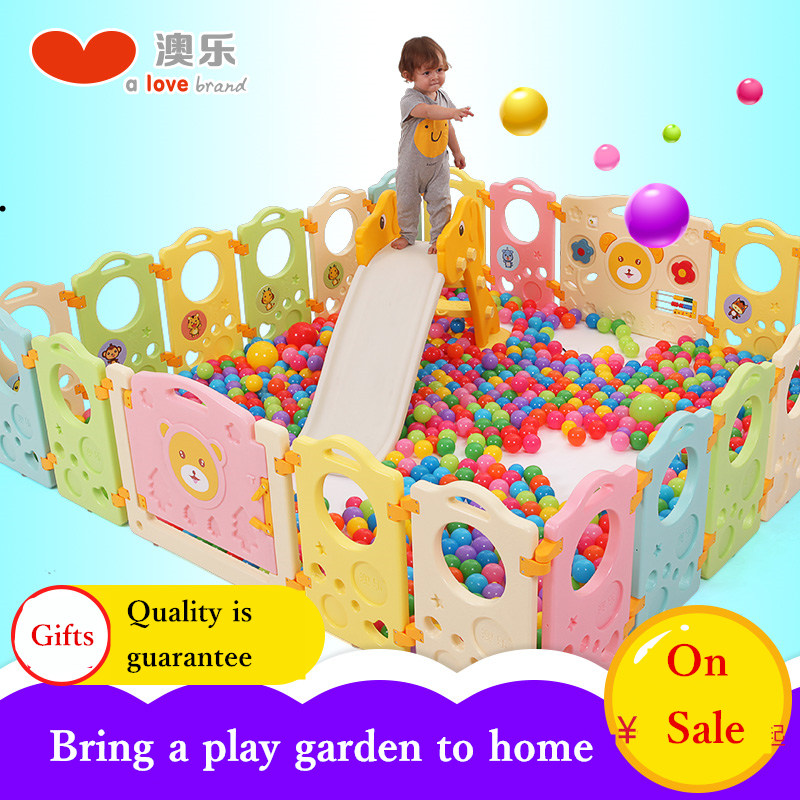 AOLE plastic colorful Baby Gate Door Stop Child Game Fence Baby Crawling Toddlers Guardrail game playpen star playpen the ivory white european super suction wall mounted gate unique smoke door
