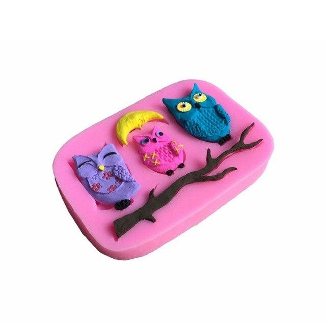 Neue Diy Nacht Spitze Eule Kuchen Zucker Form Flussigkeit Frosch