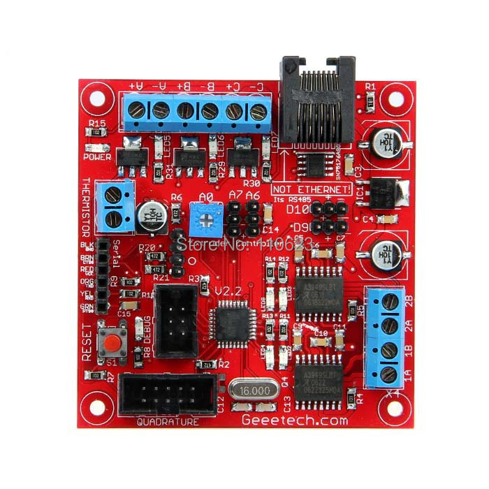 Geeetech 3D Printer Extruder Controller 2.2 : PWM Driver+DCMotor Driver+Temperature Sensor Board+RS485 Communication Free ship 3d printer driver controller rumba usb cable