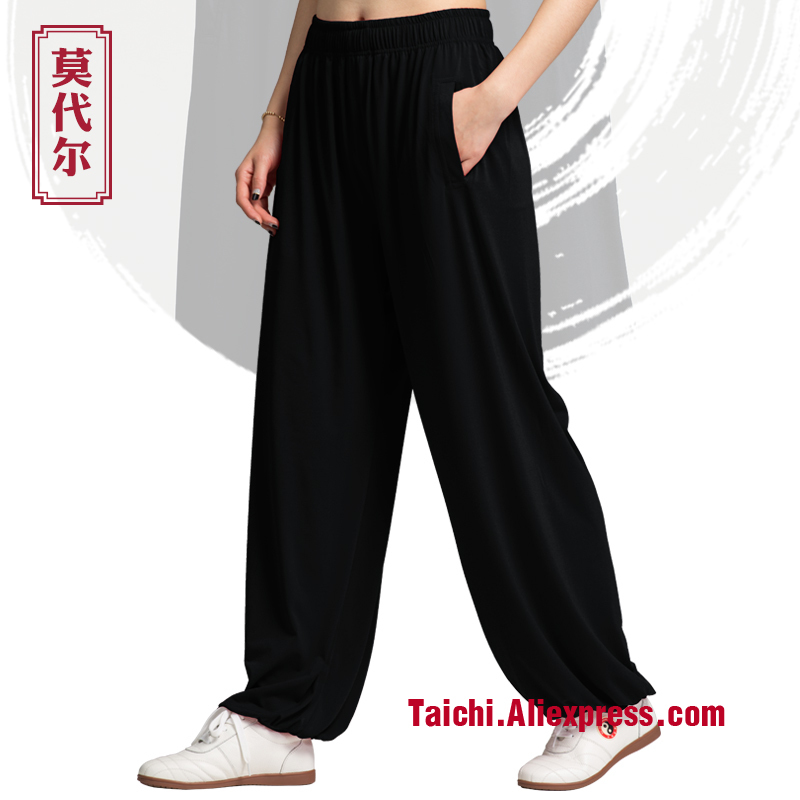 Tai Chi Pants Men And Women Tai Chi  Trousers  Wu Shu Pants Spring And Summer Martial Art Yog Pants Side Pocket
