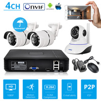 KERUI1080P NVR Full HD 4 Channel Surveillance System CCTV ONVIF Home Security WiFi IP Camera