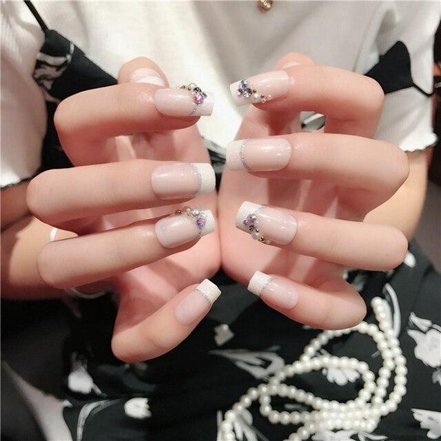 New Full Cover Style Finger Medium Artificial Fake Nail Art Tips ...