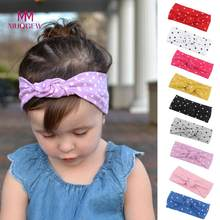 MUQGEW 1Pc Cute Baby Toddler Infant Bowknot Dot Headband Stretch Hairband Headwear Baby Head Bands Baby Hair Accessories(China)