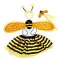 Новинка Детские Пчелы Божья Коровка Крылья Оголовье Волшебная Палочка Юбка Стиль Косплей Костюмы Аксессуары