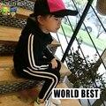 2015 del Otoño Del Juego Del Deporte Ropa de Los Niños Niñas Niños Del Algodón Del Bebé Con Capucha Chicas Sistemas de la Ropa de Los Niños Fabricantes de Ropa de China