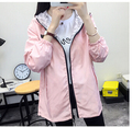 Female coat Women's 2017 new casual pure short jacket female Spring autumn Thin students wearing baseball clothes on both sides
