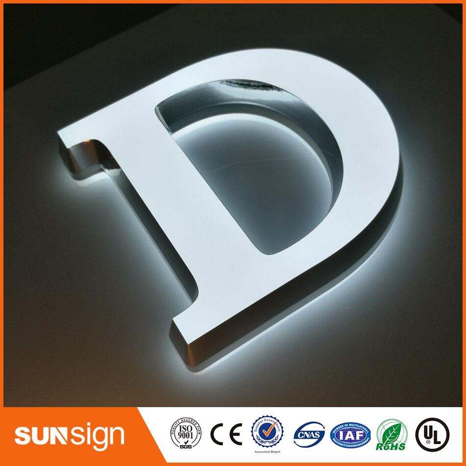 Wholesale Frontlit Illuminated Sign Acrylic LED Letters(China)