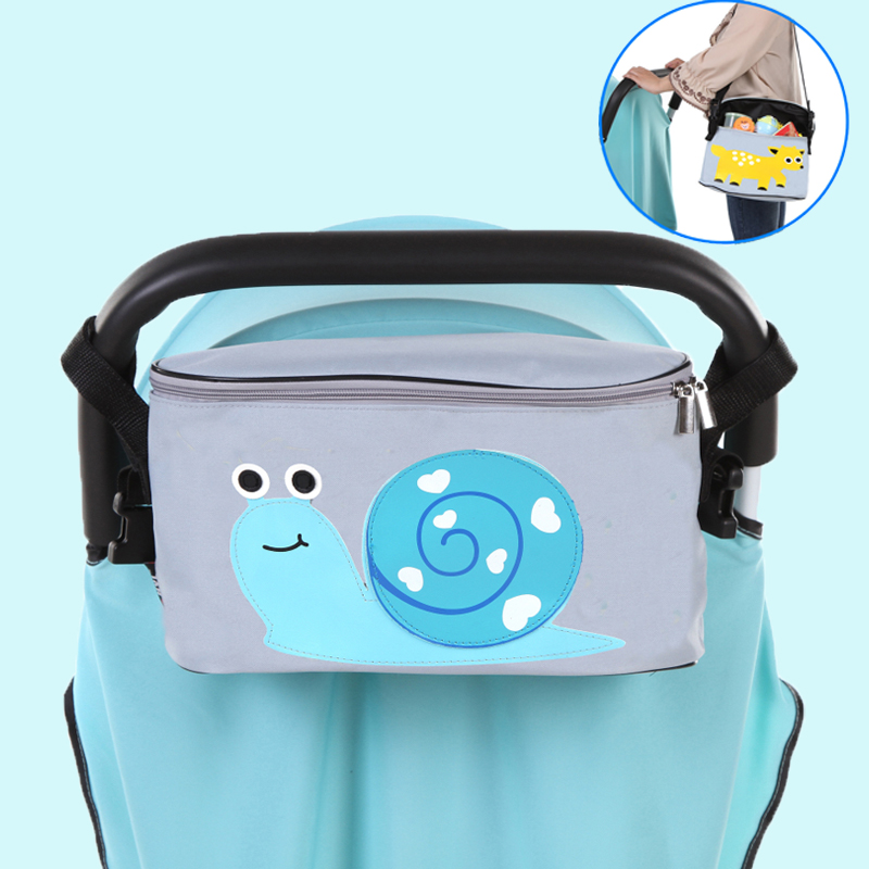 stroller organiser stroller bag hanging basket baby storage bag stroller accessories diaper bag backpack mama bag cartoon waterproof universal baby stroller bag organizer baby car hanging basket storage stroller accessories
