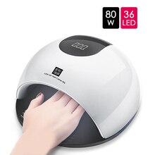 80W UV Led Lamp for Nails Manicure SUN Light Lamp Curing All Gel Polish Sensor Machine Nail Art 36 LED Beads Nail Dryer