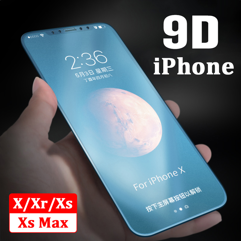 Protective glass for iphone xs max screen protector on apple xphone x xs xmax tempered scrub safety aphone phone i max ag glas